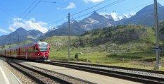Ligne ferroviaire Bernina Express, classée au patrimoine mondial de l'UNESCO