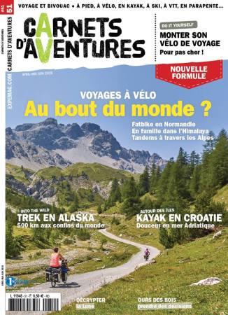 Photo de notre traversée des Alpes qui a faillit faire la couverture du #51 lors du vote final sur le site de Carnets d'Aventures (sur la photo : Céline et une de ses filles, Adélie loin devant).