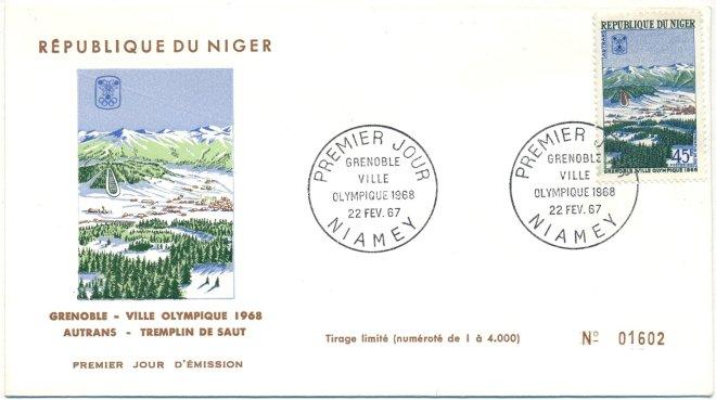 Niger_1967_Autrans_Env_1er_jour