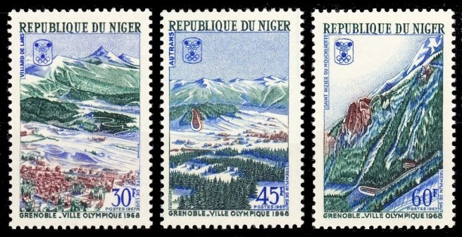 Les trois sites olympiques du Vercors : Villard, Autrans, Saint Nizier