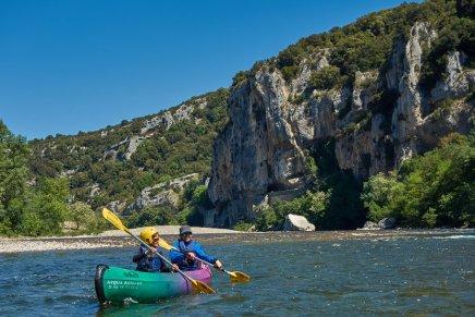 Descente de l'Ardèche - Ariane et Adélie