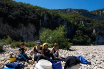 Pique-Nique durant la descente de l'Ardèche