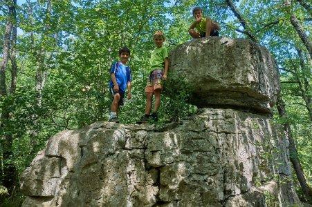 Bois de Païolive - Rochers à escalader