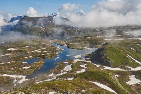 le plateau du lac Fourchu, en descendant du TAillefer