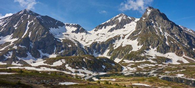 Vue générale du plateau du Foruchu et du versant Nord du aillefer