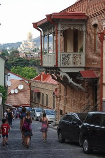 Petites rues colorées de Tbilissi