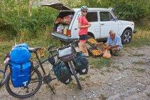 Vendeur d'abricots