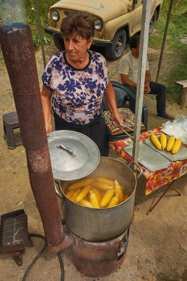 Vente de maïs avant Dilijan