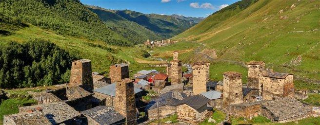 Tours des hameaux d'Ushguli