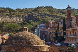 Le quartier des bains sulfurés de Tbilissi