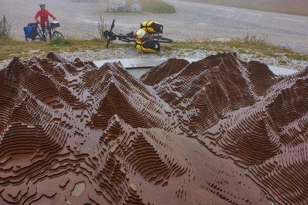 Plan 3D de la vallée, au col de Larche