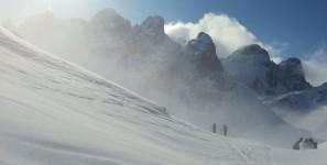 Brouillard intermittent à la brèche nord du Grand Eulier, avant de monter au sommet
