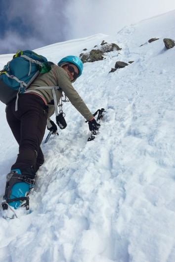 Pente finale du Grand Sorbier, nous ne sortirons pas au sommet